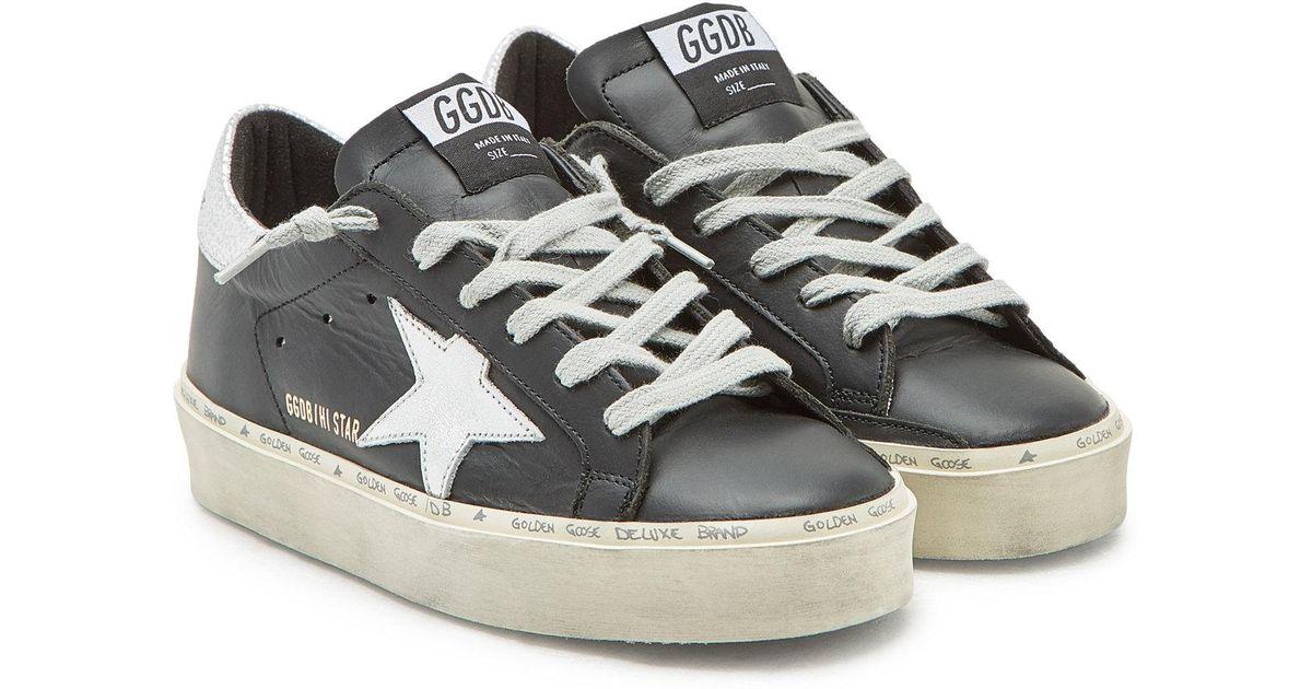 9aa45da15ddd Lyst - Golden Goose Deluxe Brand Hi Star Leather Platform Sneakers