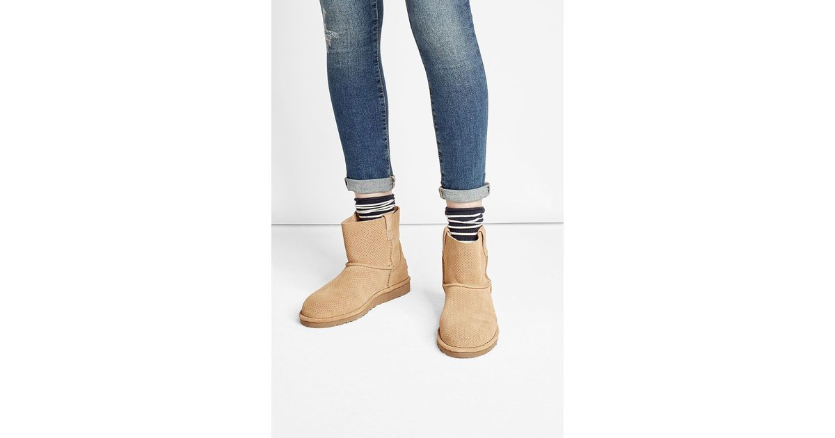 b522a9bf5e0 Ugg Multicolor Classic Unlined Mini Suede Ankle Boots