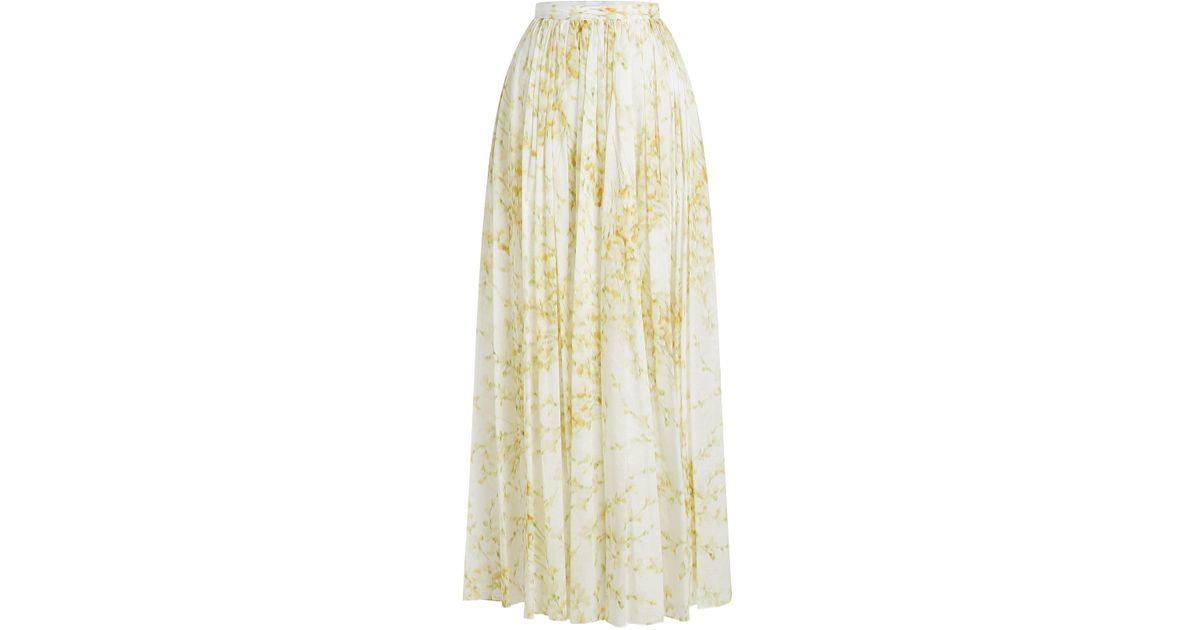 cf37fbf20 Brock Collection Sade Printed Cotton Maxi Skirt - Lyst