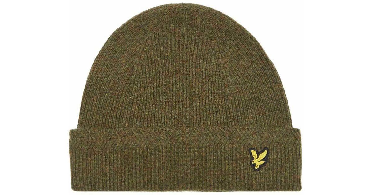 5273607d Lyle & Scott Racked Rib Beanie Hat in Green for Men - Lyst