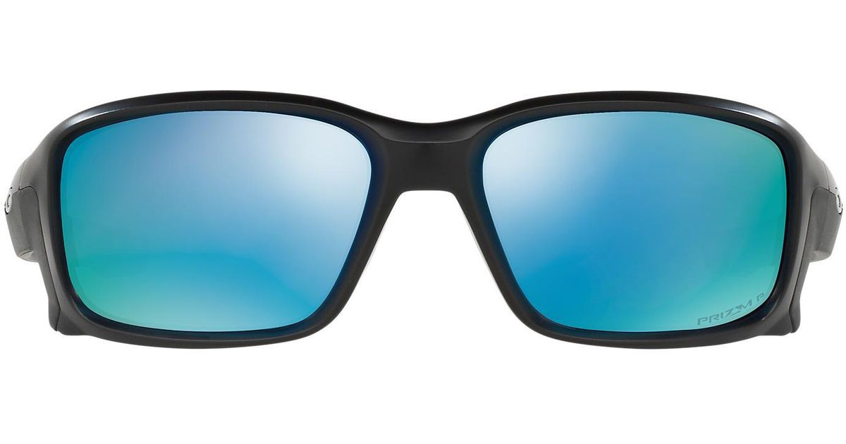 28f776aa04 Lyst - Oakley Oo9331 58 Straightlink Prizm Deep Water in Blue for Men