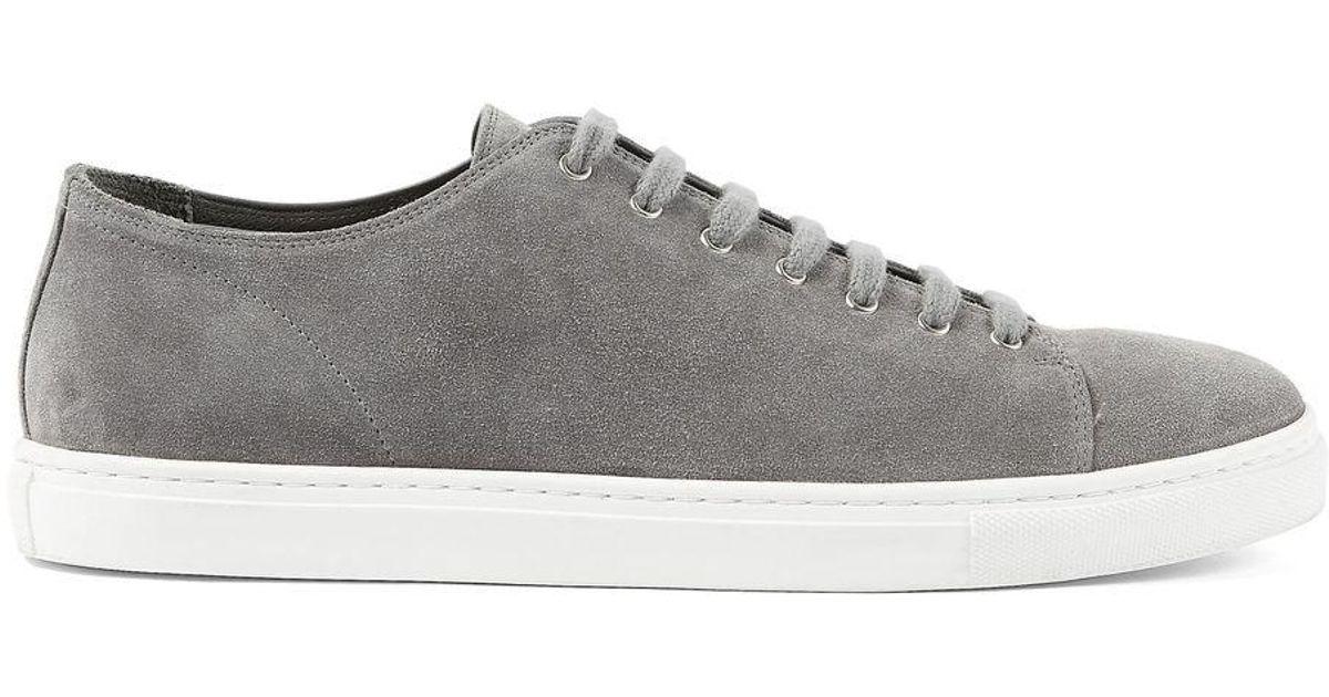Sunspel Men's Suede Tennis Shoes In
