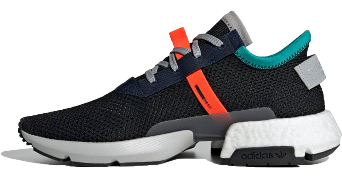 superior quality 42157 12461 Adidas Pod-s3.1 Core Black  Solar Red in Black for Men - Lys