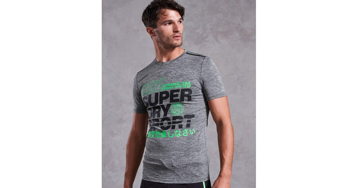 f376ed5d5 Superdry Active Graphic T-shirt in Gray for Men - Lyst