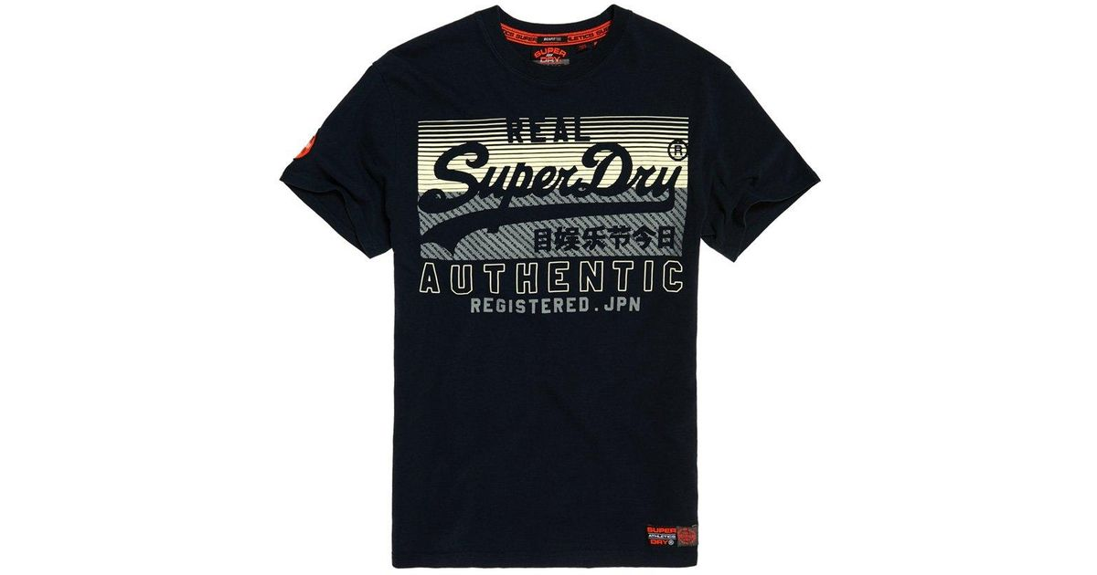 0d274071067a73 Lyst - Superdry Vintage Logo Reactive Classic Box Fit T-shirt in Blue for  Men