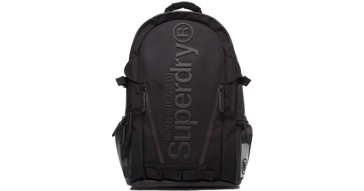 outlet online a few days away well known Superdry Black Buff Tarp Backpack for men