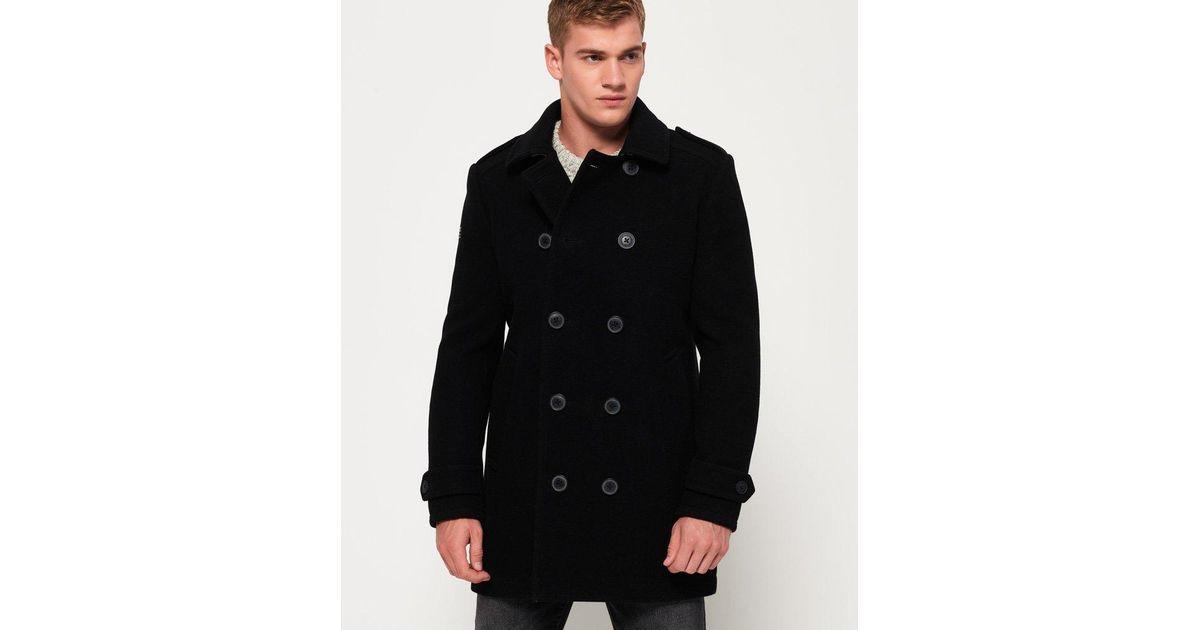 1171622797 Lyst - Superdry Bridge Coat in Black for Men