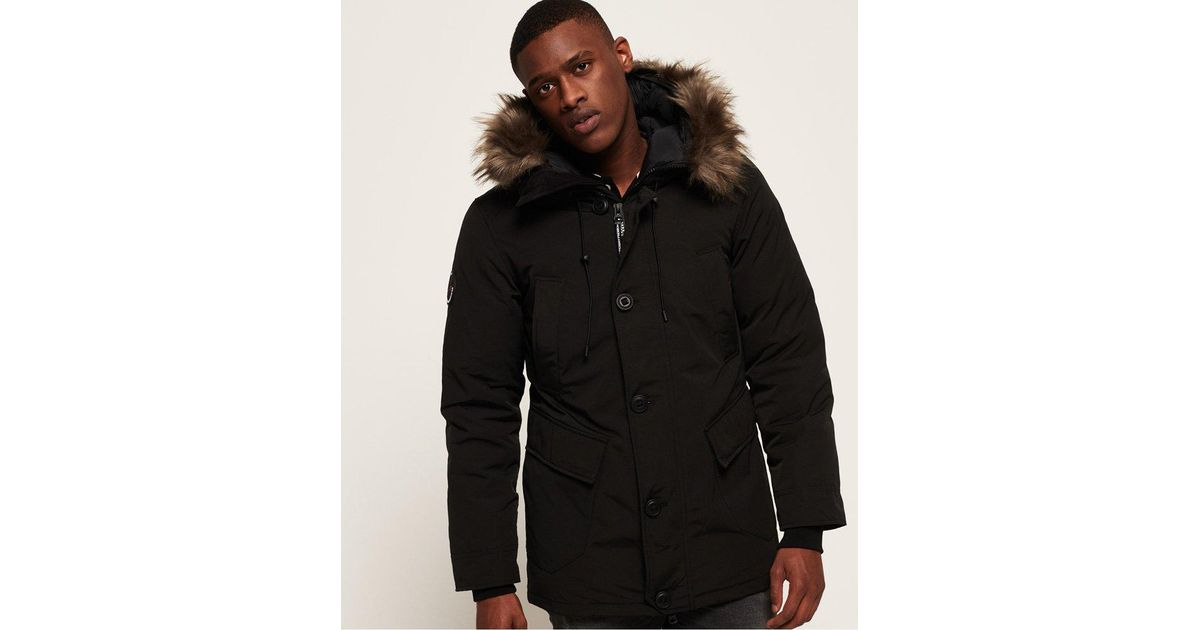 New Savings on Rookie Down Parka Jacket Green Superdry