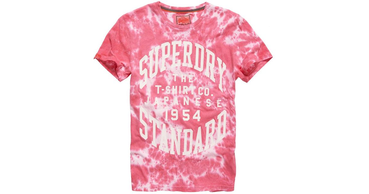 51a063f9a Superdry Standard T-shirt in Red for Men - Lyst