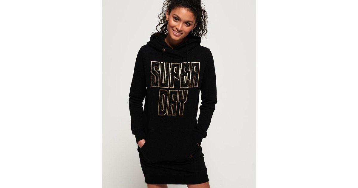 käytettävissä lisää valokuvia kauneus Superdry Black Deakin Embellished Sweat Dress