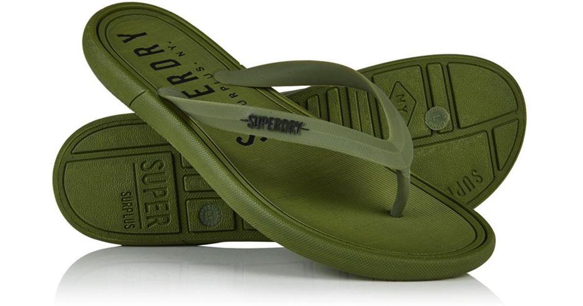 a397fe8797dbb Superdry Surplus Goods Flip Flops in Green for Men - Lyst