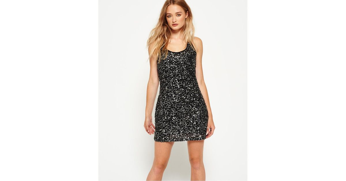 b70330bdd9 Superdry Hallie Sequin Cami Dress in Black - Save 50% - Lyst