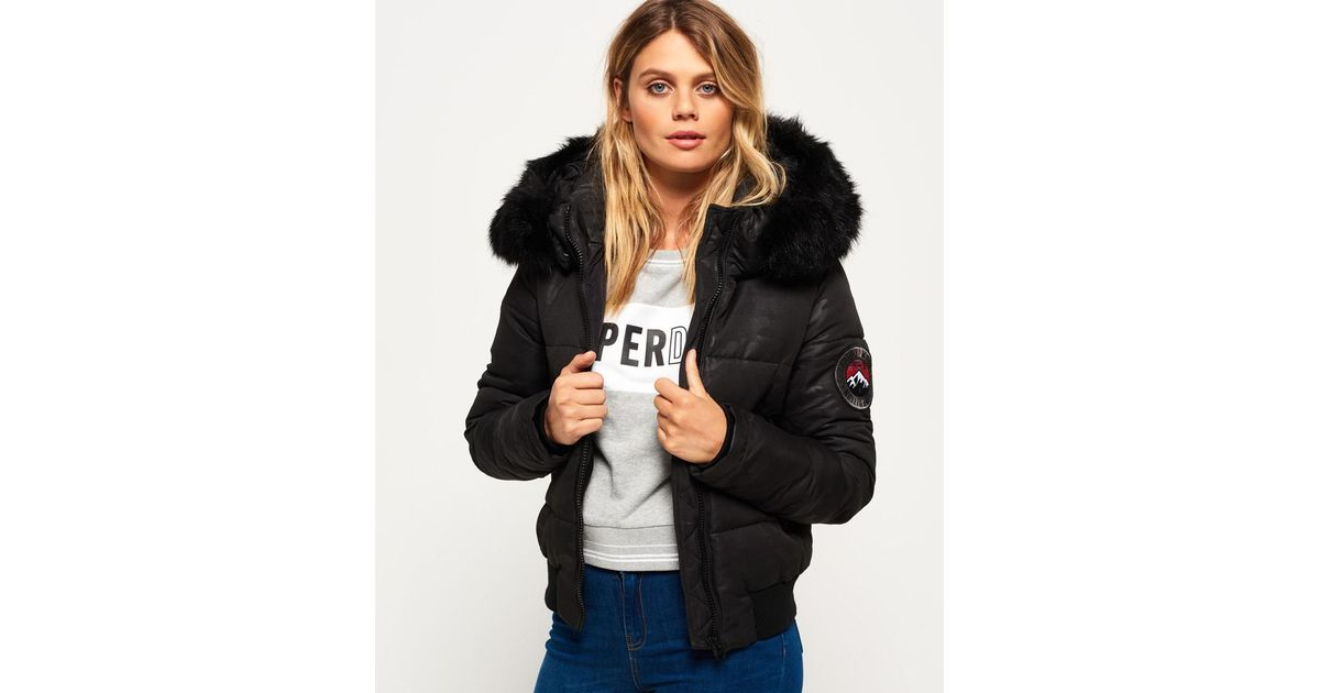 outstanding features Official Website search for clearance Superdry Black Everest Ella Bomber Jacket