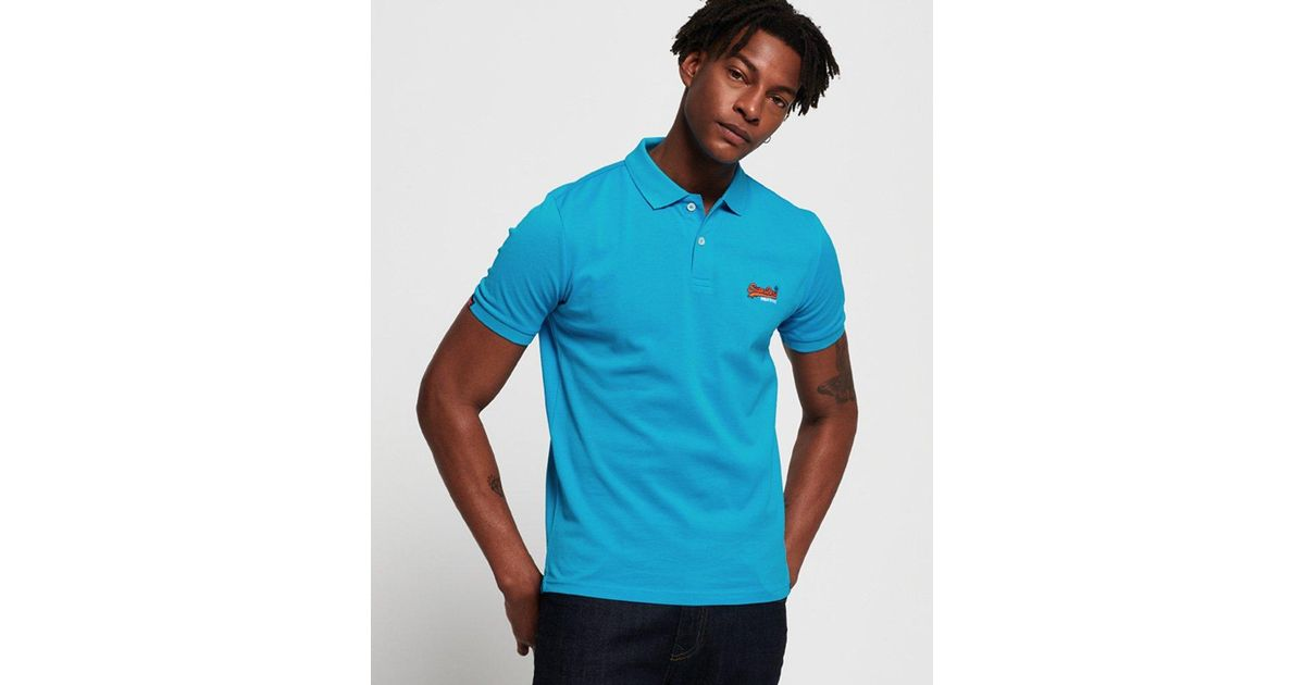 5d018245698d Superdry Mercerised Lite City Polo Shirt in Blue for Men - Save 15% - Lyst