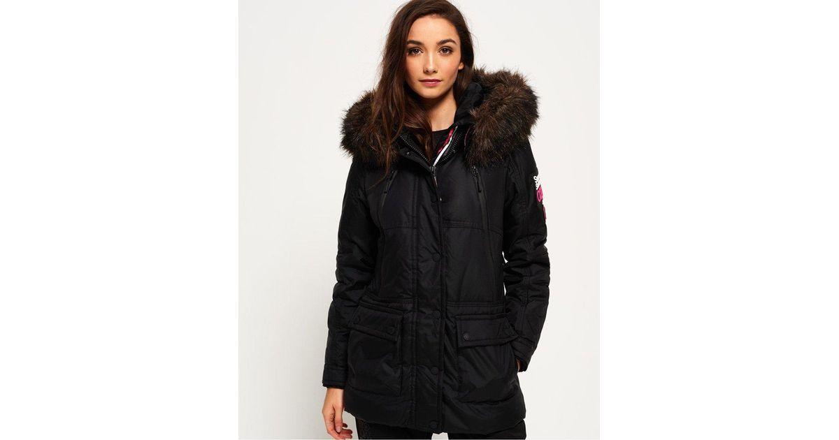 Superdry Canadian Down Ski Parka Jacket in Black - Lyst ea5c028af