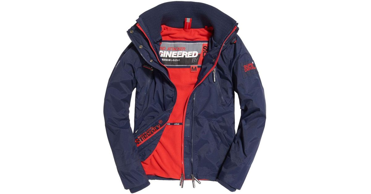 For Blue Superdry Wind Jacket Polar Men Attacker HDI9E2
