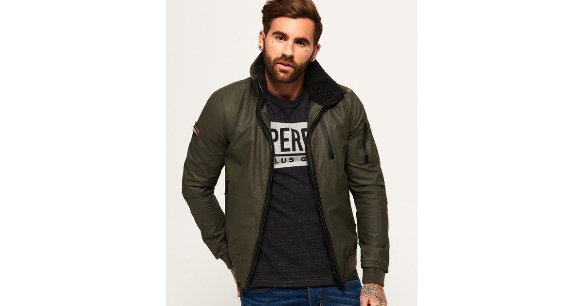 100679d9e Superdry Green New Moody Ripstop Bomber Jacket for men