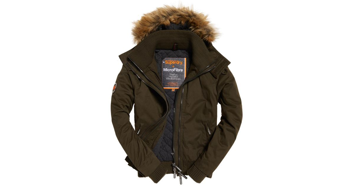 Superdry Microfibre Classic Tri Racing Puffer Khaki Coats and parkas Superdry