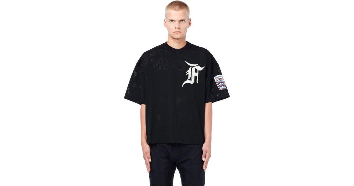 Fear Of God Mesh Batting Practice Jersey in Black for Men - Lyst 63e1a097e