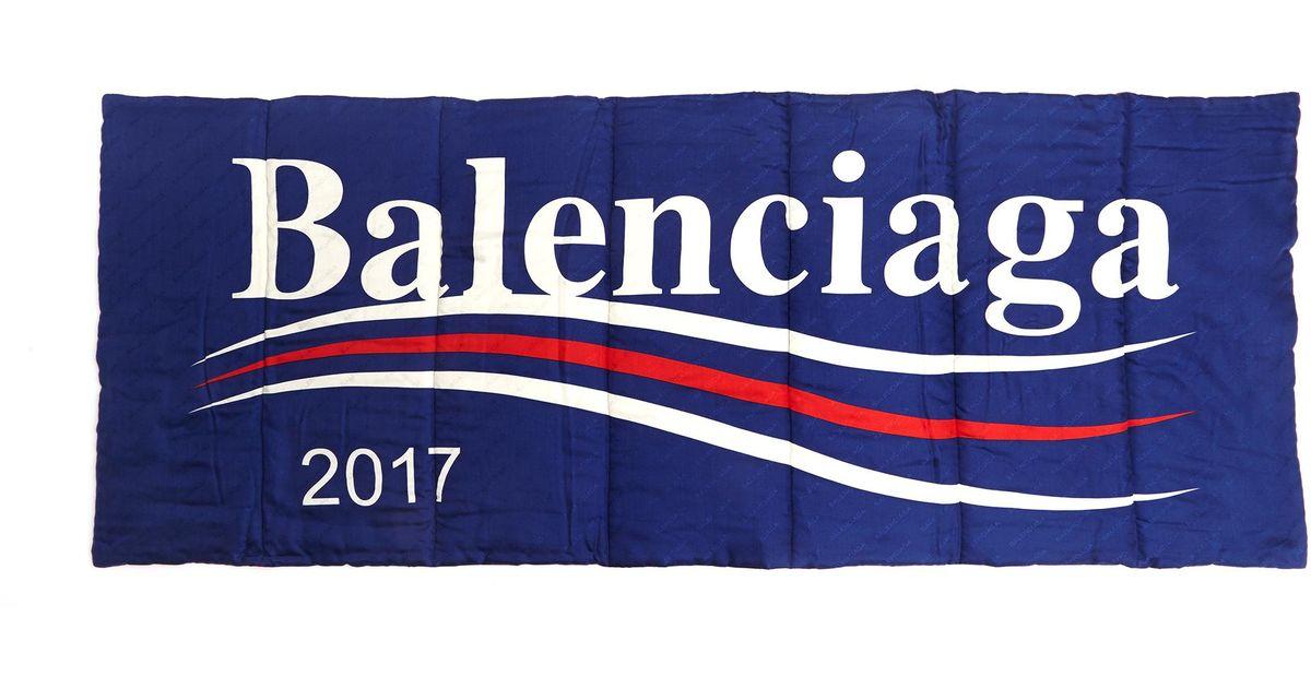 98df7c75f1ca Balenciaga 2017 Logo Scarf in Blue - Lyst
