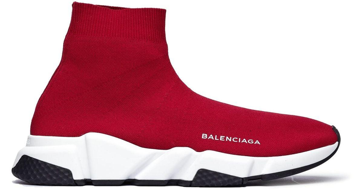 Speed Trainer Burgundy Sneakers