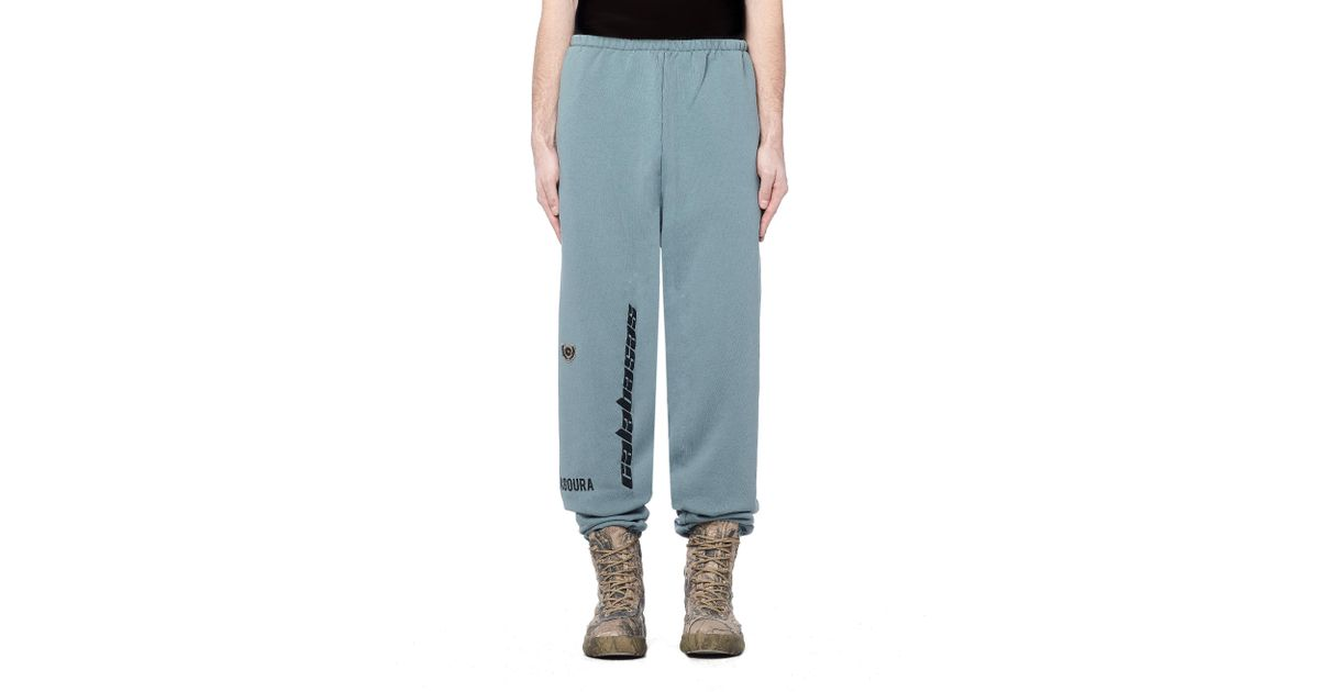 3449c28b98a05 Lyst - Yeezy Calabasas Embroidered Sweatpants in Blue for Men