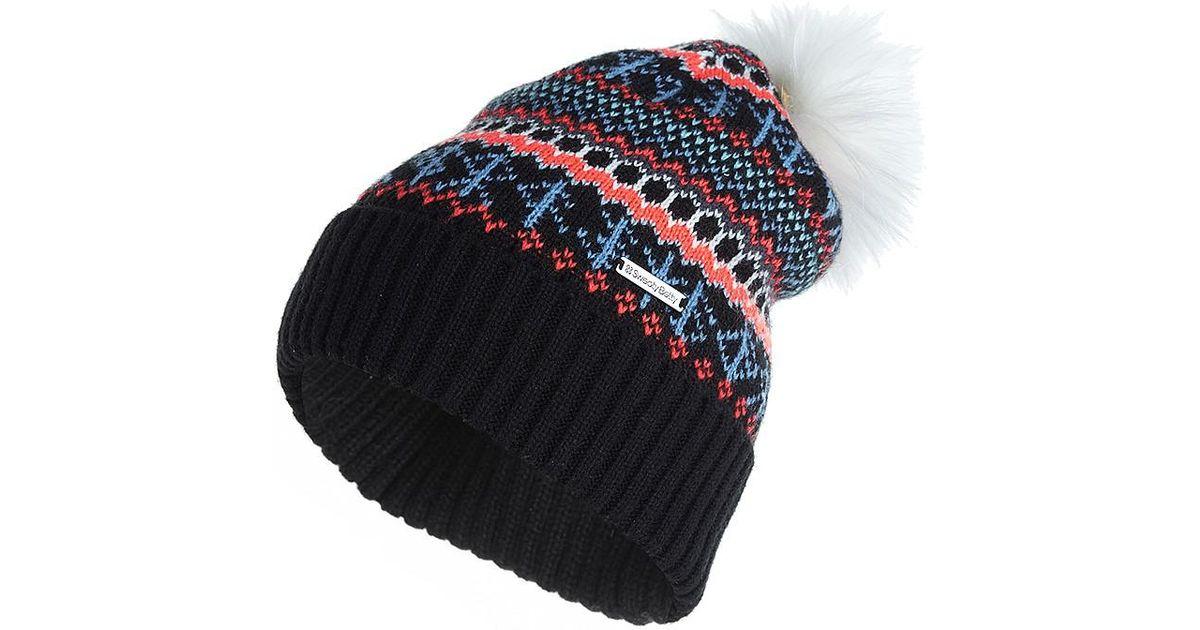 222f64dff Sweaty Betty Blue Icelandic Jacquard Knitted Bobble Hat