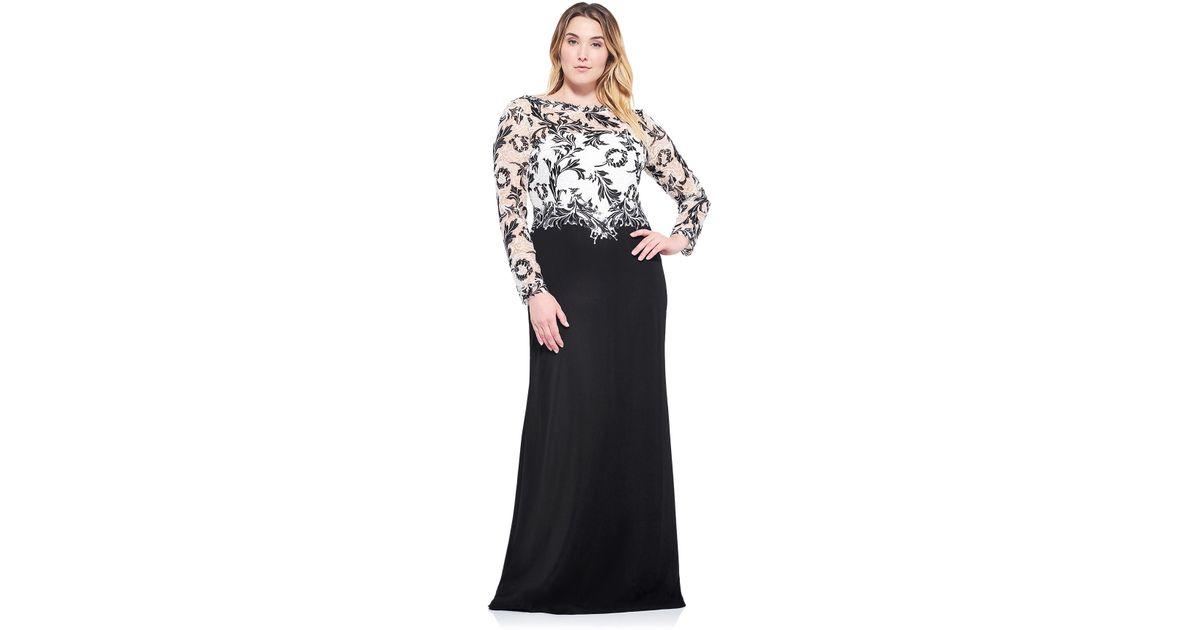 Lyst Tadashi Shoji Coralie Gown Plus Size In Black