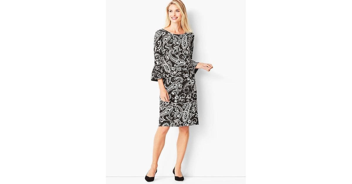 6a0dcd5a2020 Lyst - Talbots Crepe Shift Dress in Black - Save 41%