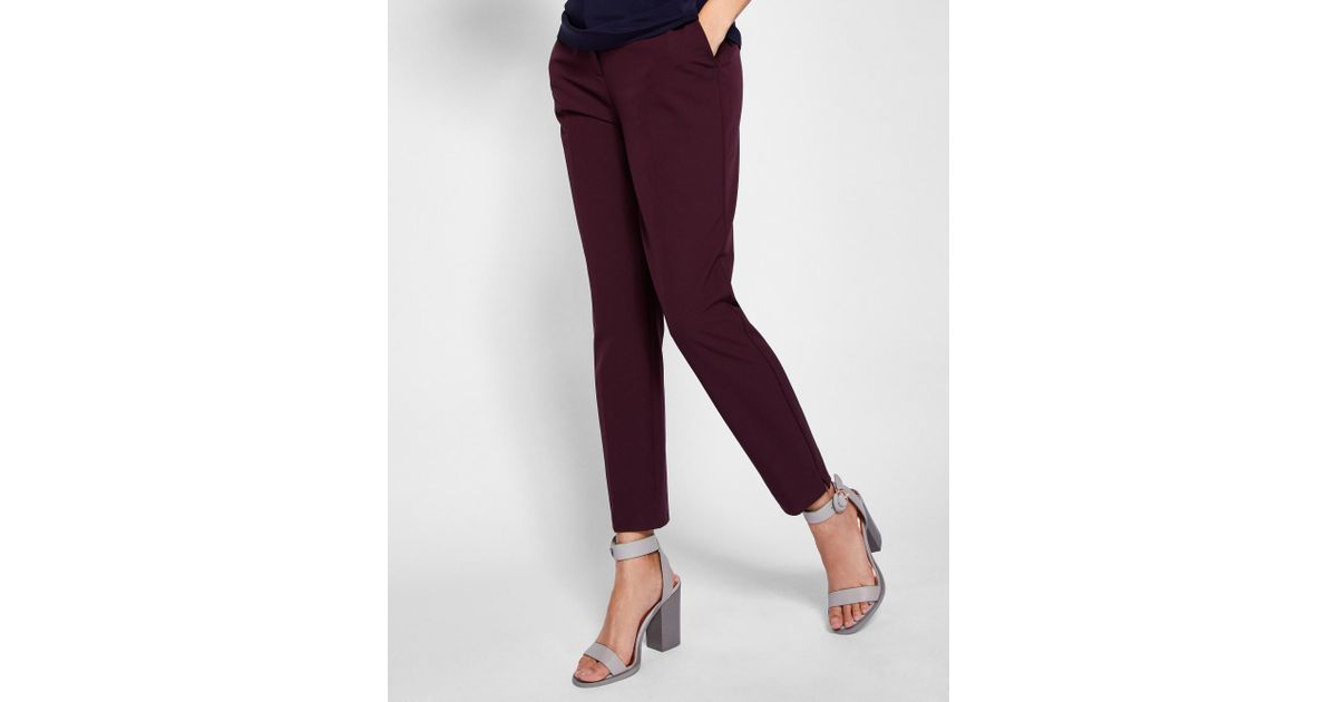 4b4c100489787 Lyst - Ted Baker Tailored Ankle Grazer Pants in Purple