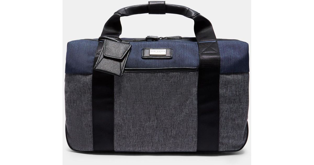 Ted Baker Small Clipper Holdall in Gray for Men - Lyst 8fe6ae13a4f10