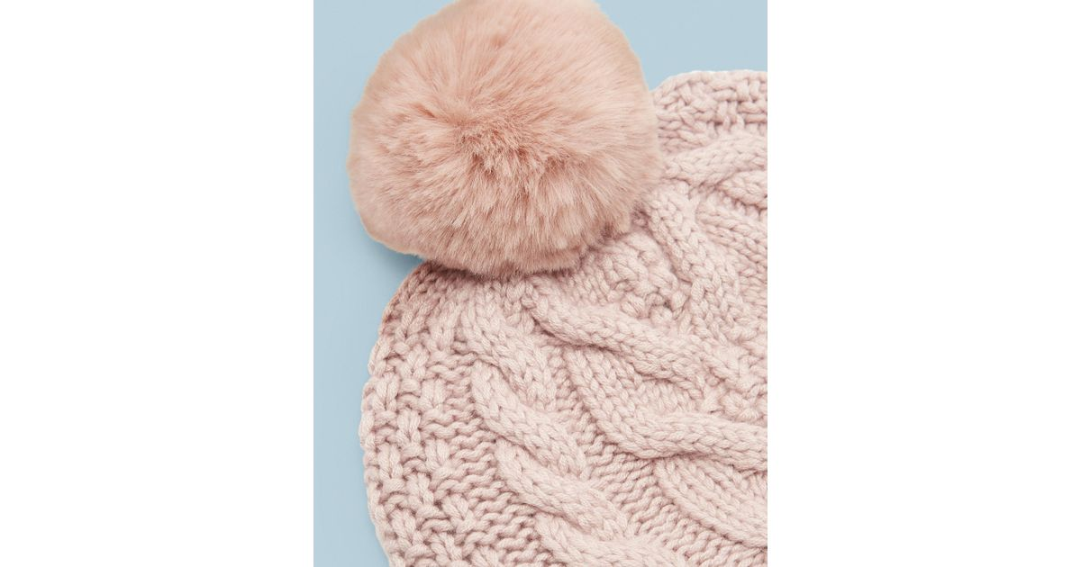 aa68f8eb1 Ted Baker Pink Cable Knit Pom Pom Hat