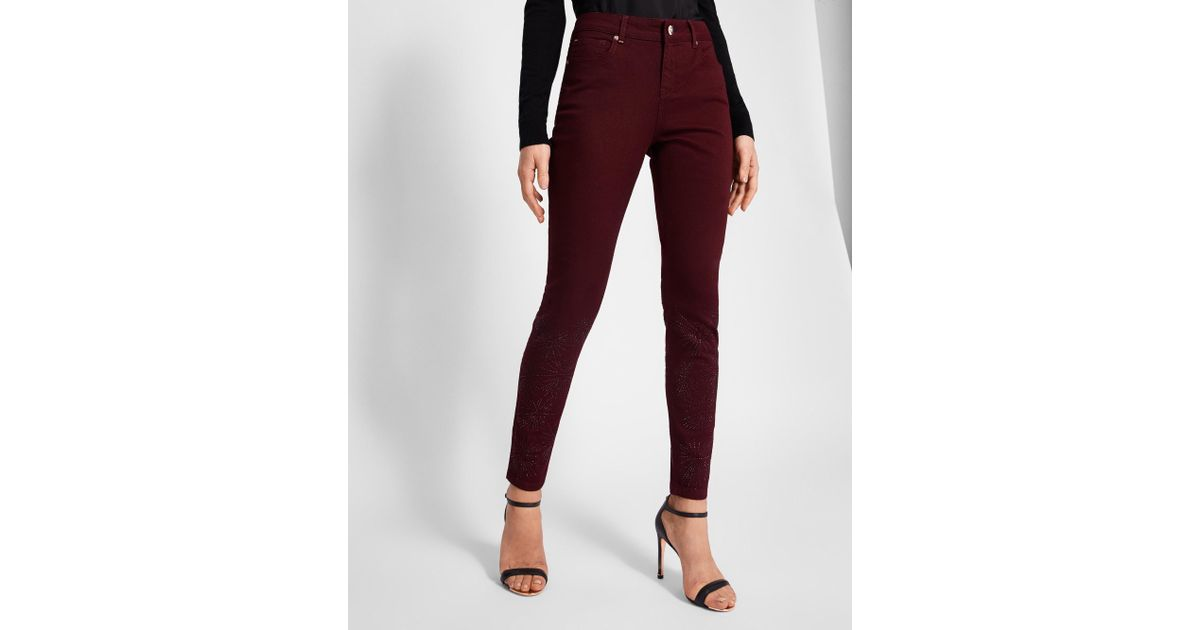 ad4a63e0c0eee Lyst - Ted Baker Stardust Embellished Skinny Jeans