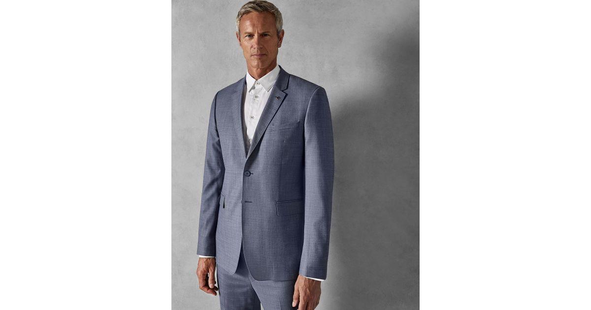 3f1001971 Ted Baker Debonair Plain Wool Suit Jacket in Blue for Men - Lyst