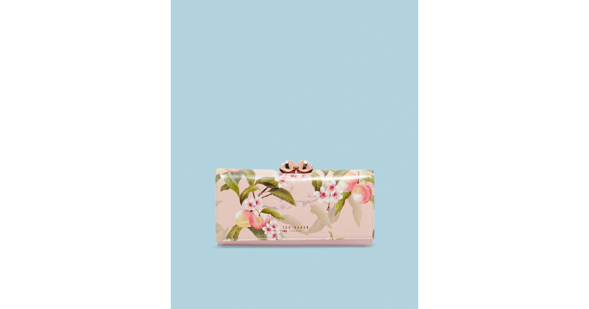 aa81df268fb Lyst - Ted Baker Peach Blossom Bobble Matinee Purse in Pink