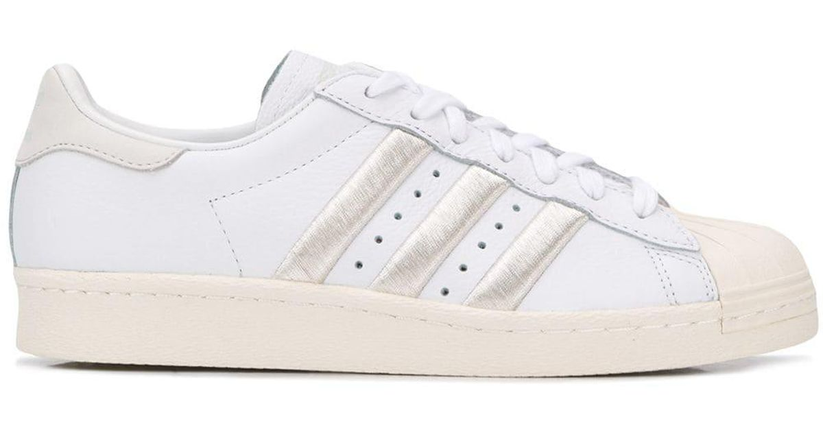 purchase cheap e960b 619ee adidas Superstar 80s Sneakers in White - Lyst