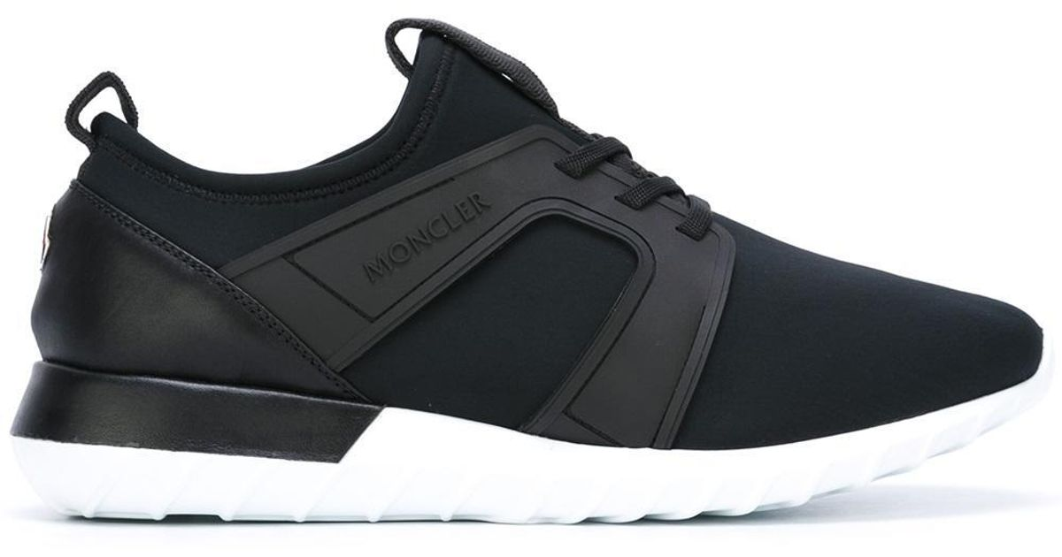 Sneakers for Leather in Moncler Men Low Black Top Emilien Lyst XEx8wA4q