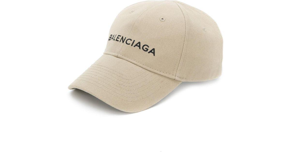 Balenciaga Cotton Cap in Brown for Men