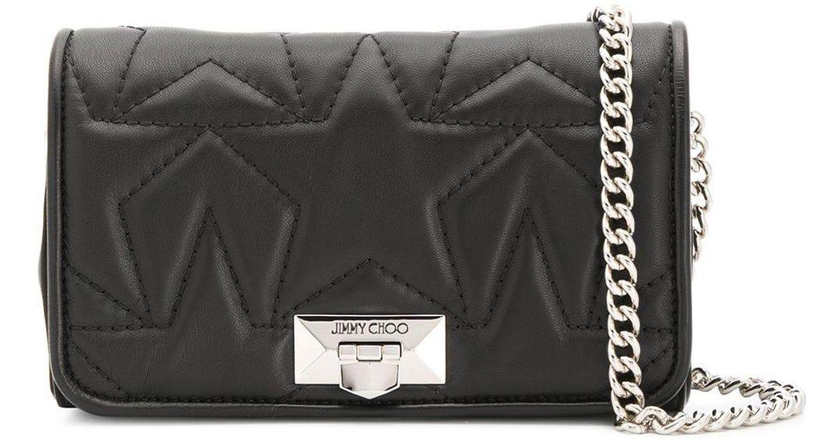 b620785f41f Lyst - Jimmy Choo Helia Leather Clutch in Black