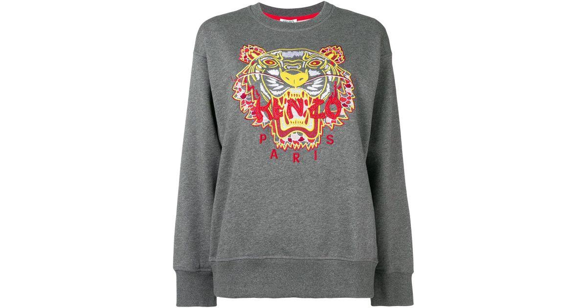 4b1e05ad KENZO Dragon Tiger Sweatshirt in Gray - Lyst