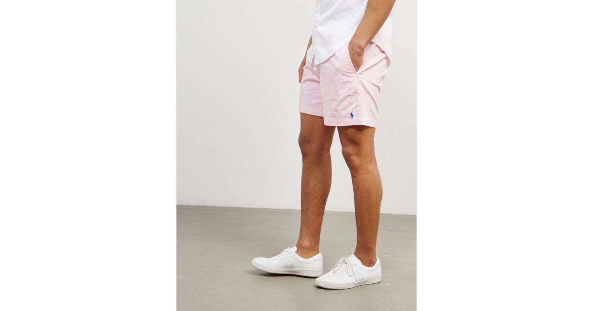 bc6bcf93e12b hot polo ralph lauren mens preppy shorts pink in pink for men lyst db6e1  0b357