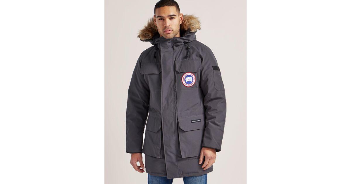 7c670502d08 Canada Goose Gray Citadel Parka Jacket for men