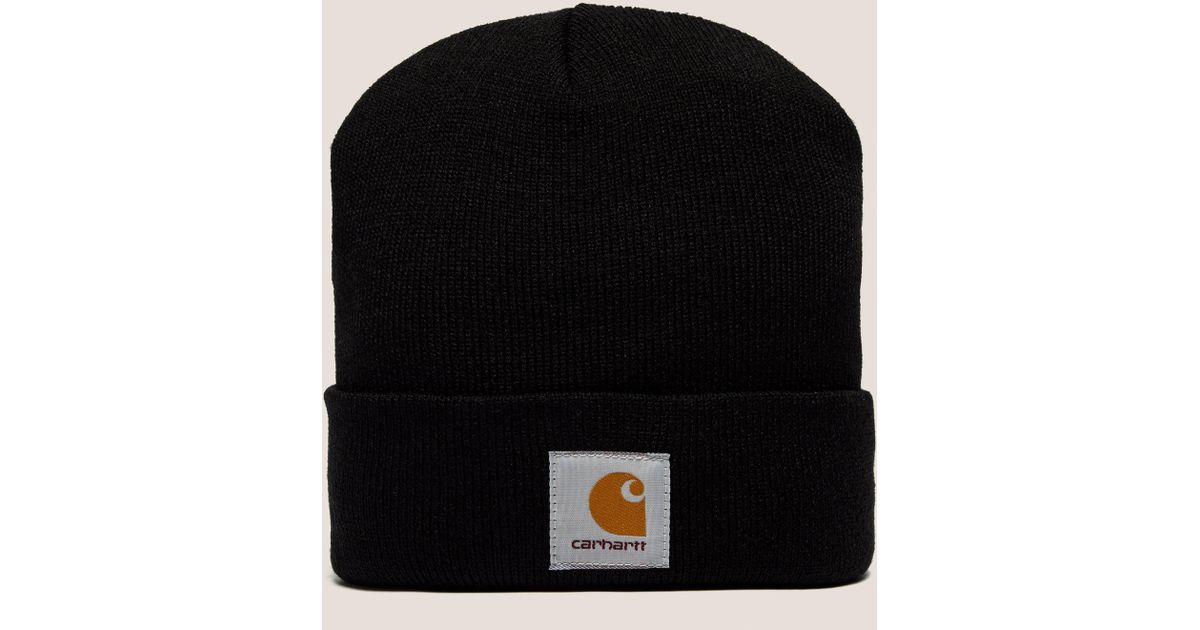 025695a3dc1 Lyst - Carhartt WIP Mens Short Watch Beanie Hat Black in Black for Men