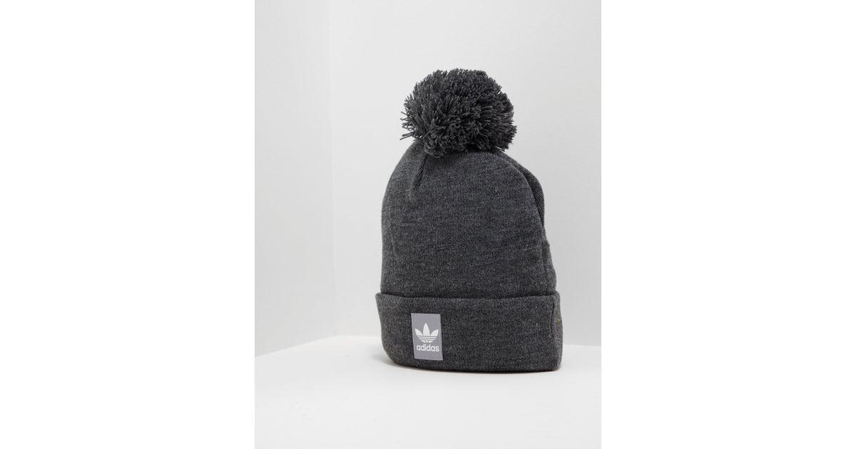 adidas Originals Mens Logo Bobble Hat Charcoal in Gray for Men - Lyst 558e1c20297