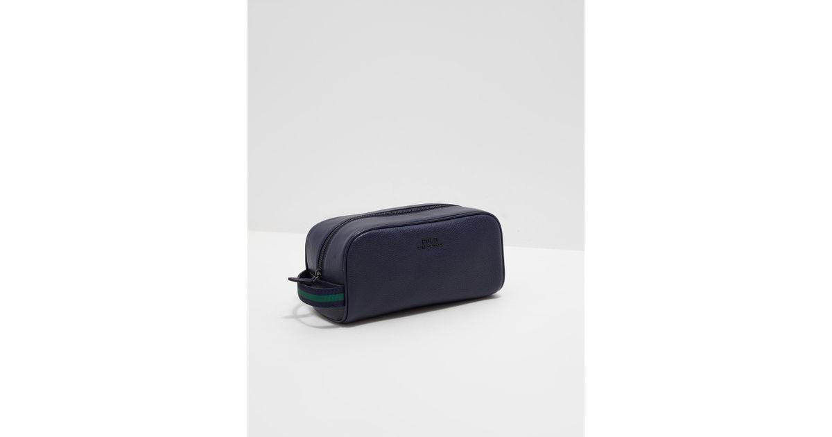 ... buy popular 172a4 74404 Polo Ralph Lauren Mens Wash Bag - Online  Exclusive Navy Blue in ... a80b54d47d