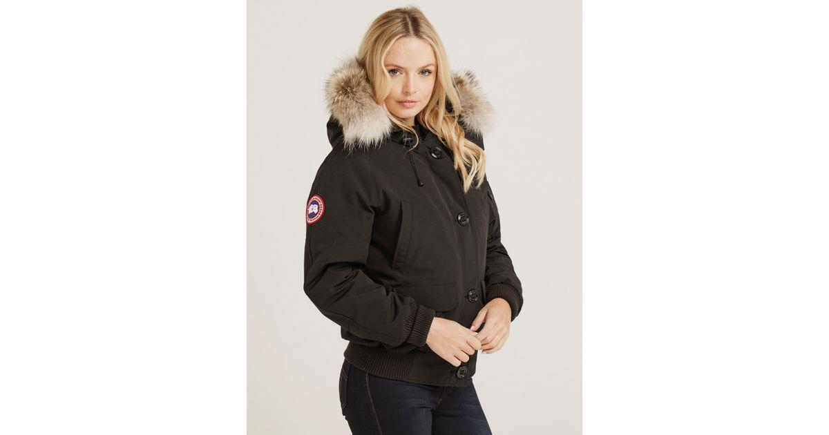1042d2560 Canada Goose Womens Chilliwack Padded Bomber Jacket Black