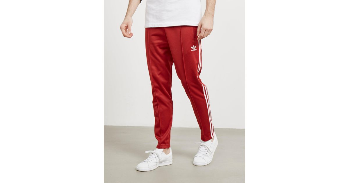 adidas pants red