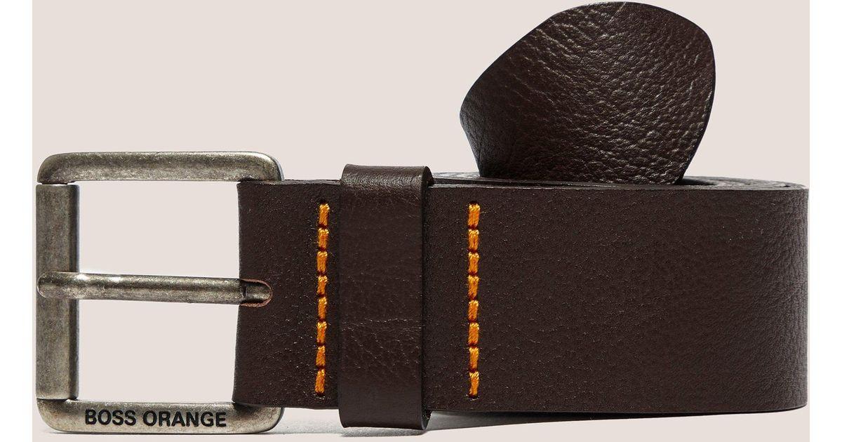 HUGO by Hugo Boss Mens Joby Leather Belt
