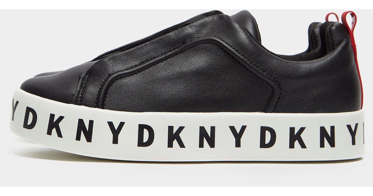 DKNY Leather Bashi Platform Trainers