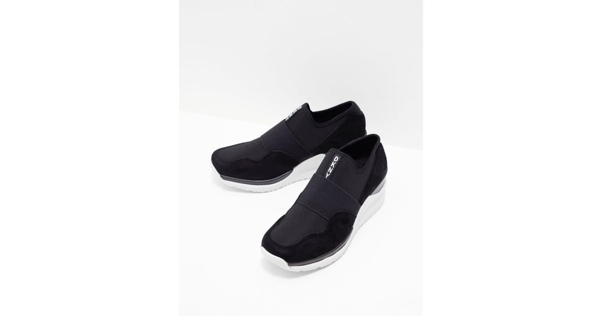 DKNY Suede Womens Leigh Wedge Trainer